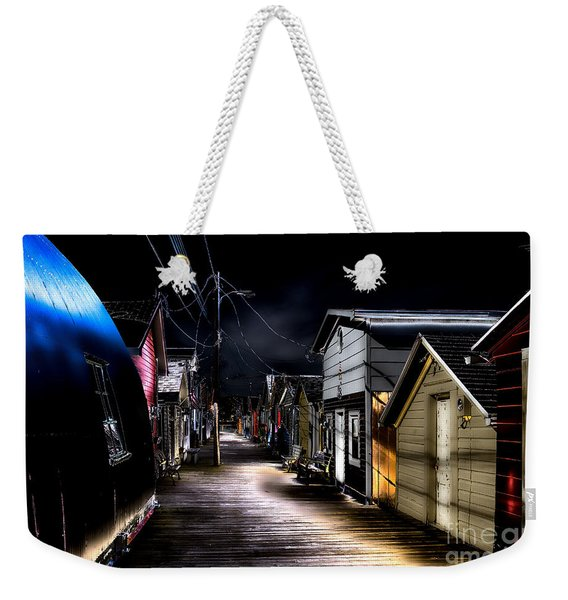 Midnight At The Boathouse Weekender Tote Bag