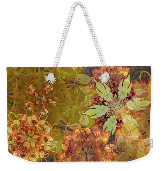 Midnight Blossom Bouquet Weekender Tote Bag