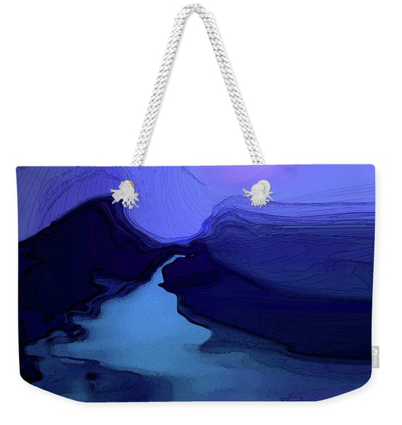 Weekender Tote Bag featuring the digital art Midnight Blue by Gina Harrison