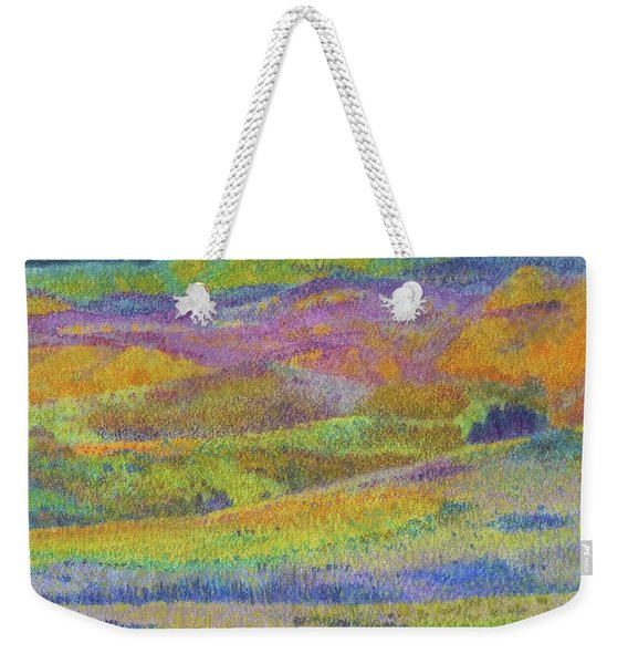 Weekender Tote Bag featuring the painting Midnight Magic Dream by Cris Fulton