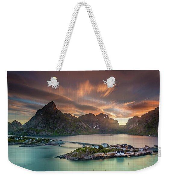 Midnight Sun Galore Weekender Tote Bag