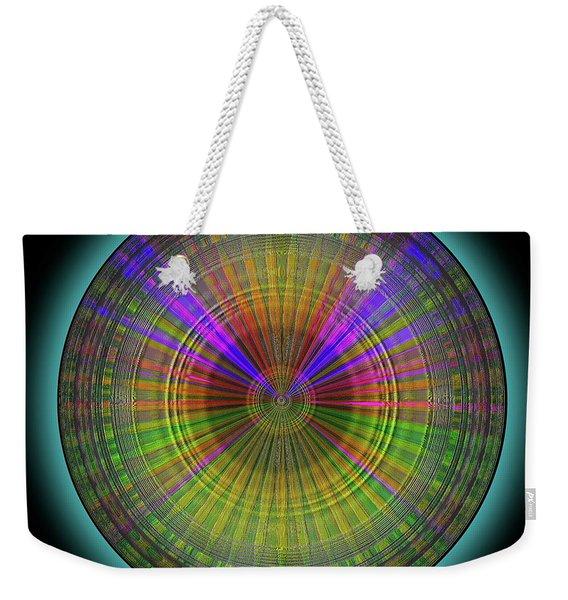 Weekender Tote Bag featuring the digital art Midnight Sunset by Visual Artist Frank Bonilla