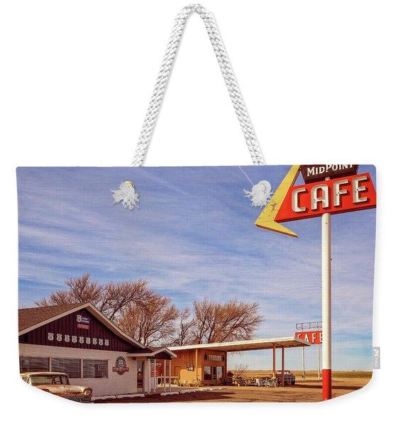 Midpoint Cafe Weekender Tote Bag