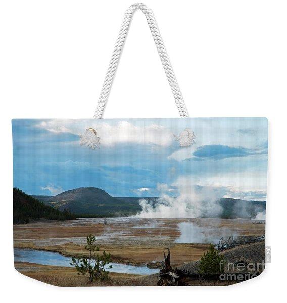 Midway Geyser Area Weekender Tote Bag