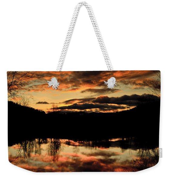 Midwinter Sunrise Weekender Tote Bag