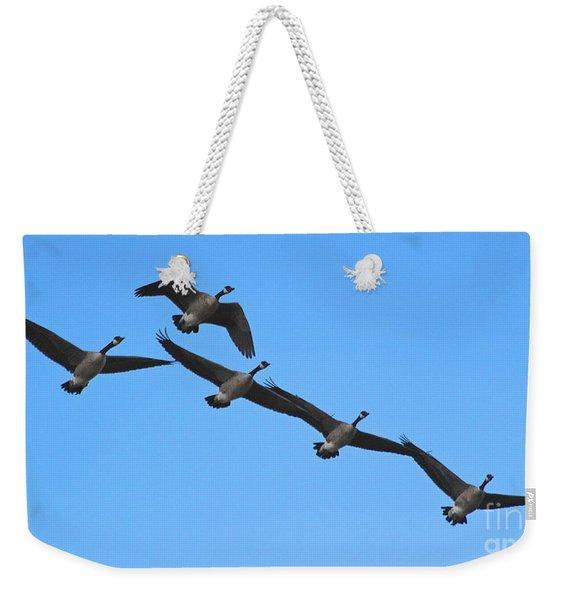 Migrating Geese Weekender Tote Bag