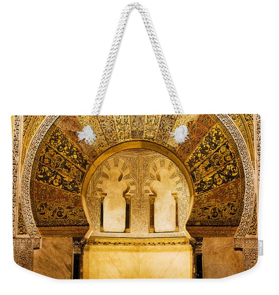 Mihrab In The Great Mosque Of Cordoba Weekender Tote Bag