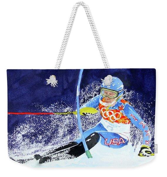 Mikaela Shiffrin Weekender Tote Bag