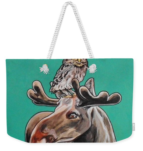 Mike The Moose Weekender Tote Bag