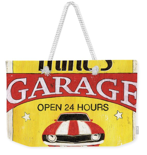 Mike's Garage Weekender Tote Bag