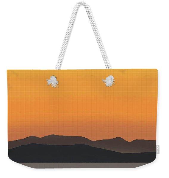 Mykonos Sunset Weekender Tote Bag