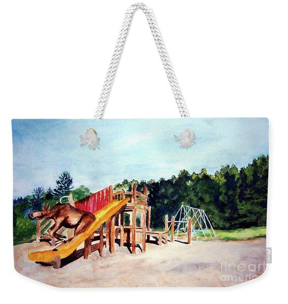 Mildred Goes Down The Slide Weekender Tote Bag