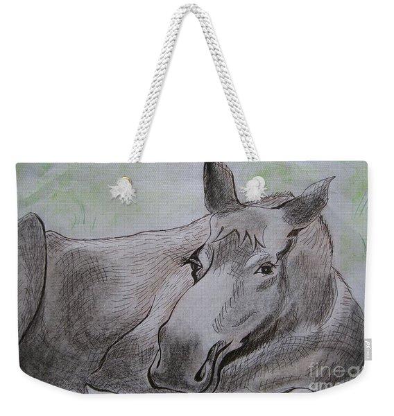 Mildred The Moose Resting Weekender Tote Bag