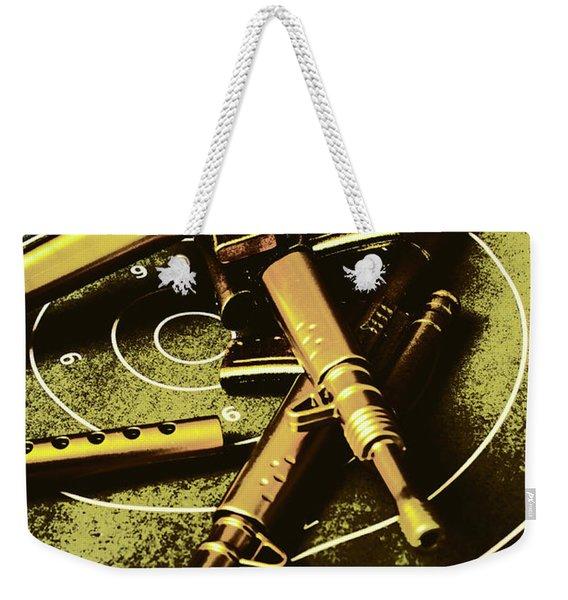 Military Green Pop Art  Weekender Tote Bag