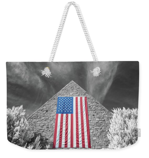 Weekender Tote Bag featuring the photograph Military Vision 2 by Brian Hale
