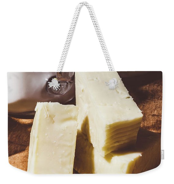 Milk And Cheese Weekender Tote Bag
