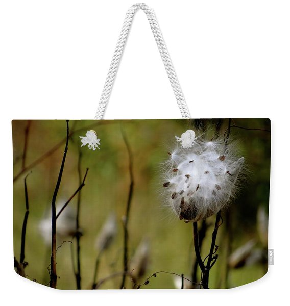 Milkweed In A Field Weekender Tote Bag