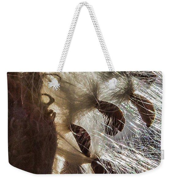 Milkweed Seed Burst Weekender Tote Bag