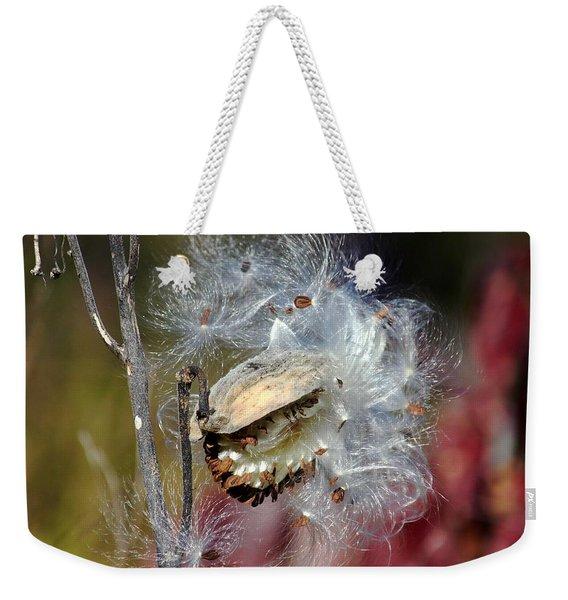 Milkweed Silk Weekender Tote Bag