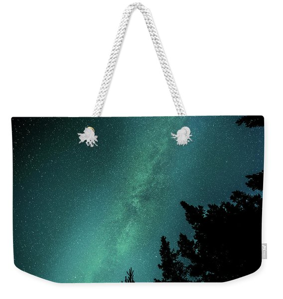 Milky Way Above The Trees Weekender Tote Bag