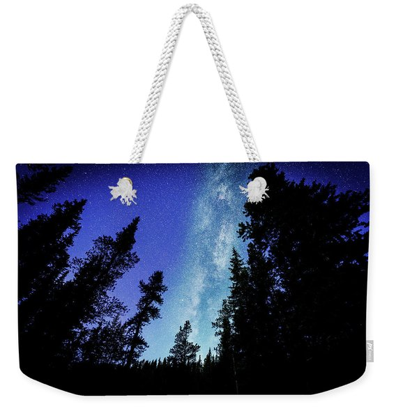 Milky Way Among The Trees Weekender Tote Bag