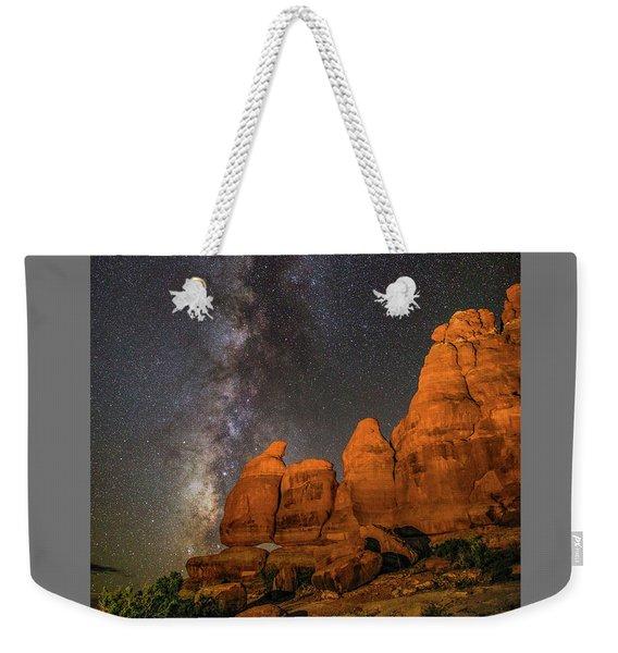 Milky Way And Navajo Rocks Weekender Tote Bag