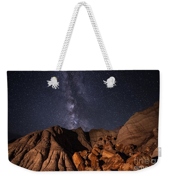 Milky Way And Petrified Logs Weekender Tote Bag