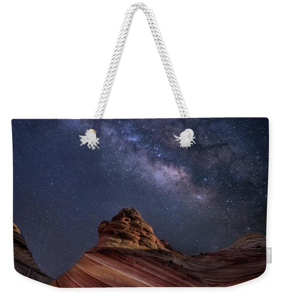 Milky Way And The Wave Weekender Tote Bag