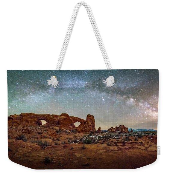 Milky Way At Arches Park Weekender Tote Bag