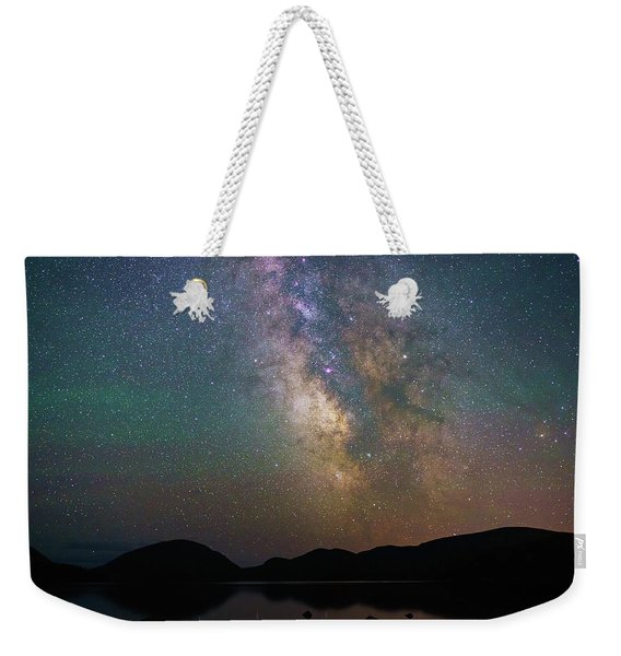 Milky Way Eagle Lake Weekender Tote Bag