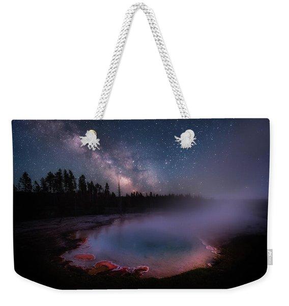 Milky Way In Yellowstone Weekender Tote Bag