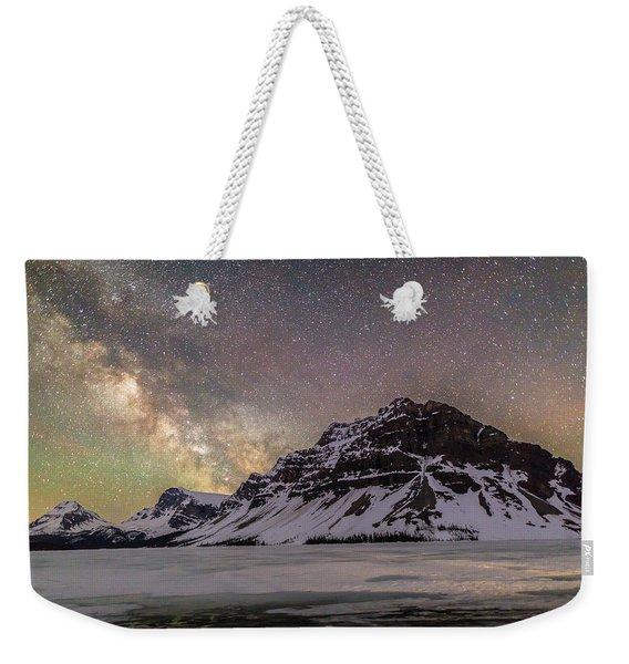 Milky Way Over Crowfoot Mountain Weekender Tote Bag