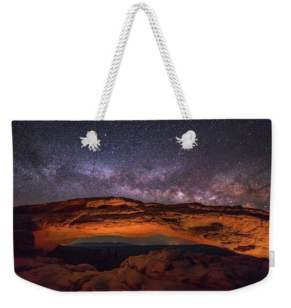 Milky Way Over Mesa Arch Weekender Tote Bag