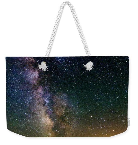 Milky Way Over Mt Adams Weekender Tote Bag