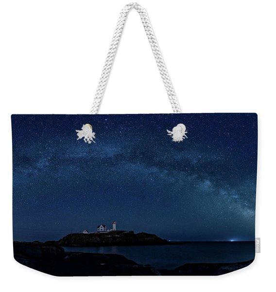 Milky Way Over Nubble Weekender Tote Bag