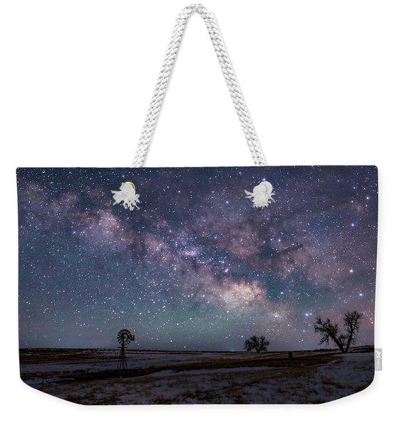 Milky Way Over The Prairie Weekender Tote Bag