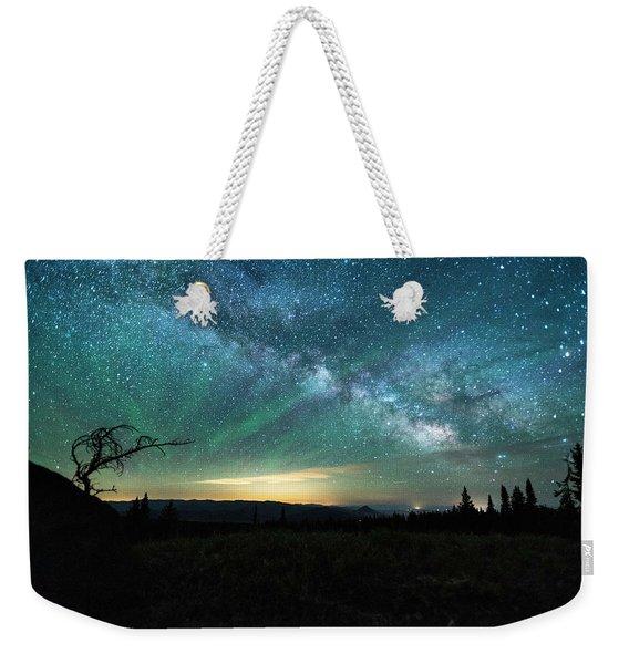 Milky Way Rising Weekender Tote Bag