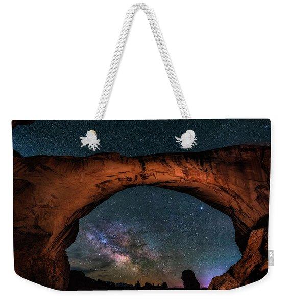 Milky Way Under The Arch Weekender Tote Bag