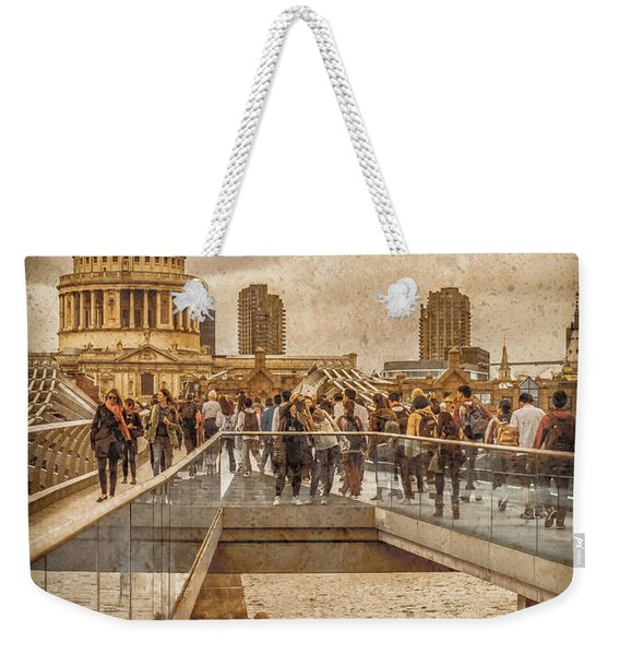 London, England - Millennium Bridge II Weekender Tote Bag
