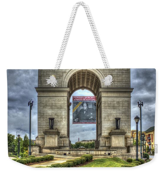 Millennium Gate Atlantic Station Midtown Atlanta Weekender Tote Bag