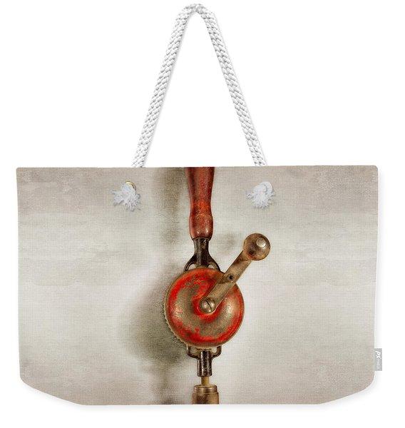 Millers Falls Hand Drill Weekender Tote Bag