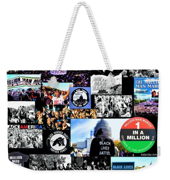 Million Man March Montage Weekender Tote Bag
