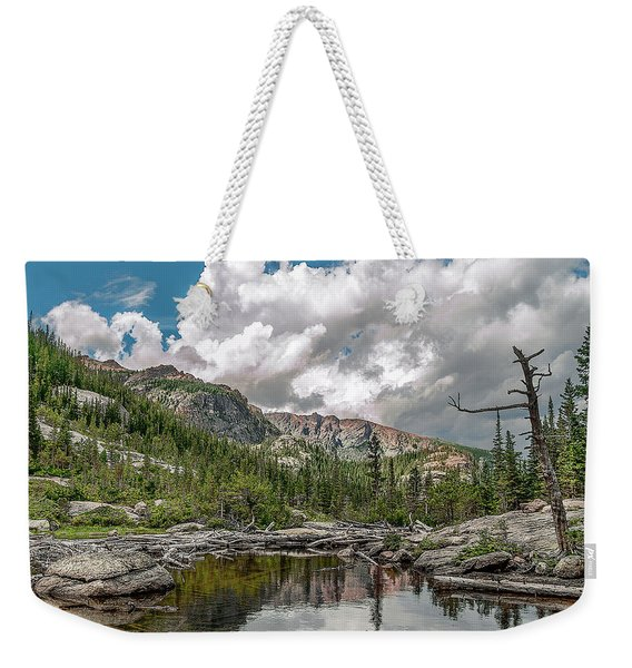Weekender Tote Bag featuring the photograph Mills Lake 5 by Scott Cordell