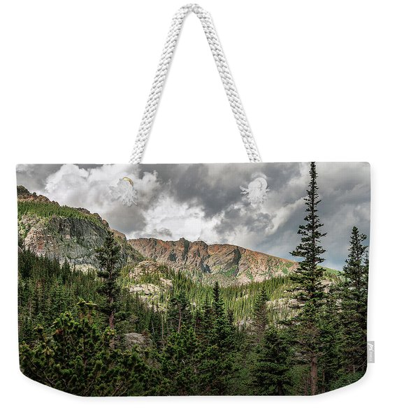 Weekender Tote Bag featuring the photograph Mills Lake Hike by Scott Cordell