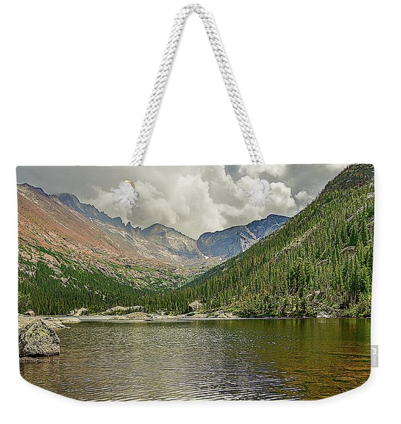 Weekender Tote Bag featuring the photograph Mills Lake by Scott Cordell