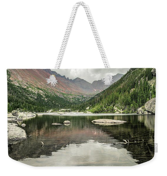 Weekender Tote Bag featuring the photograph Mill's Lake View by Scott Cordell