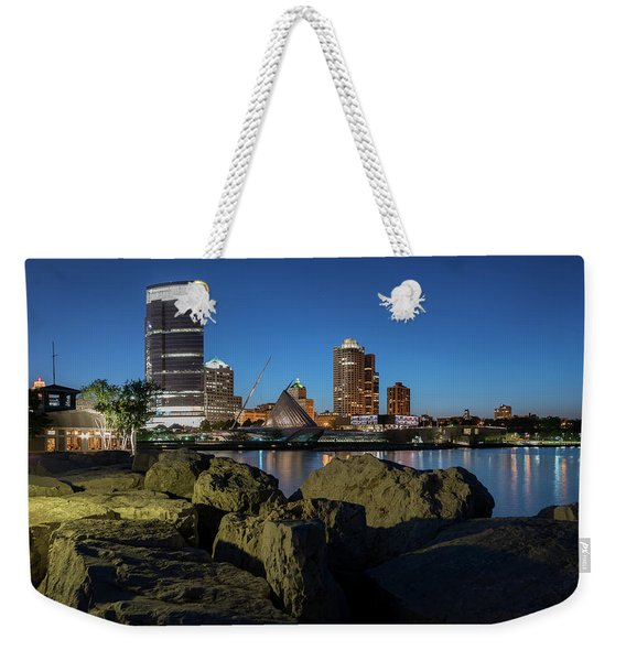 Milwaukee At The Lake Weekender Tote Bag