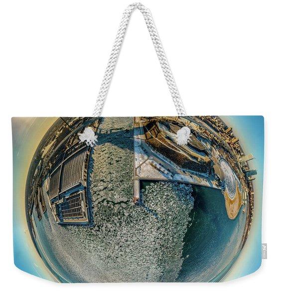 Milwaukee Pierhead Light Little Planet Weekender Tote Bag