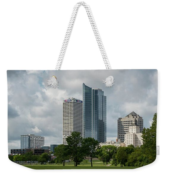 Milwaukee Skyline From Veterans Park 3 Weekender Tote Bag