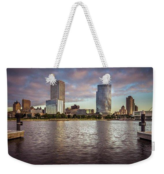 Milwaukee Skyline Weekender Tote Bag